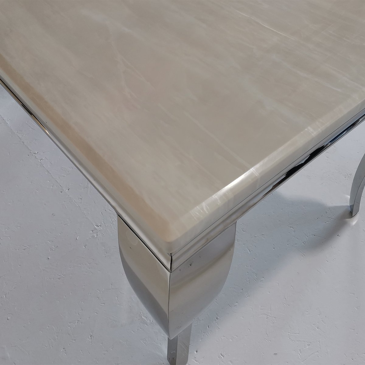 Liyana Cream Marble Dining Table