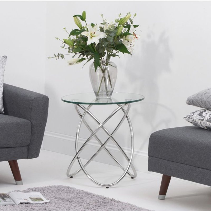 Dina Glass Round Lamp Table