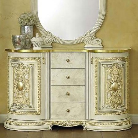 Varazze Ornate Gold & Ivory 2 Door Buffet With Drawers