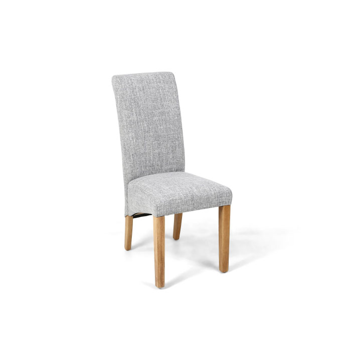 Karina Grey Weave Roll Back Dining Chair