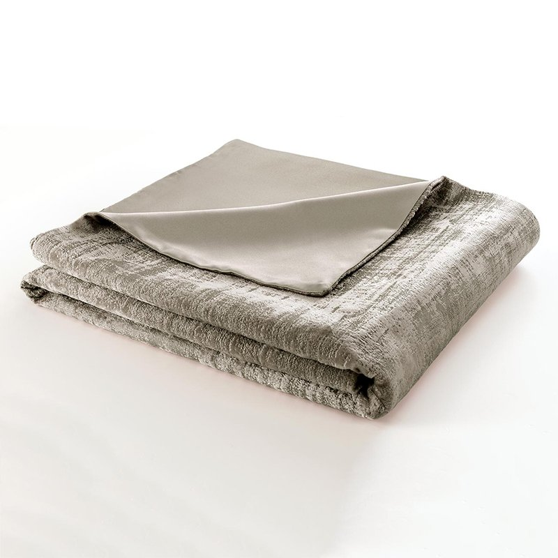 Naples Stone Velvet Lined Throw