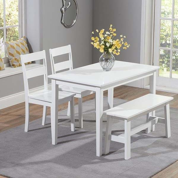 Chichester White Painted 4 Piece 1.15m Dining Set