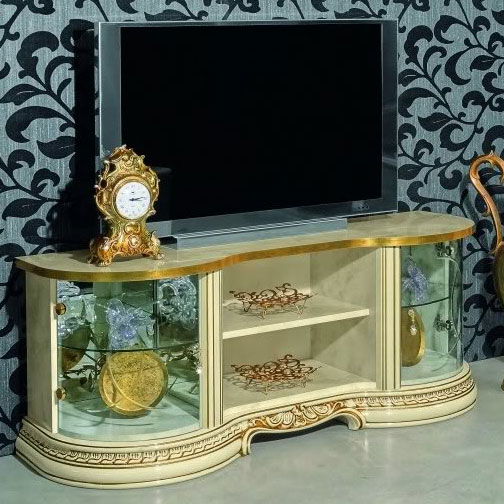 Varazze Ornate Gold & Ivory Mini TV Cabinet