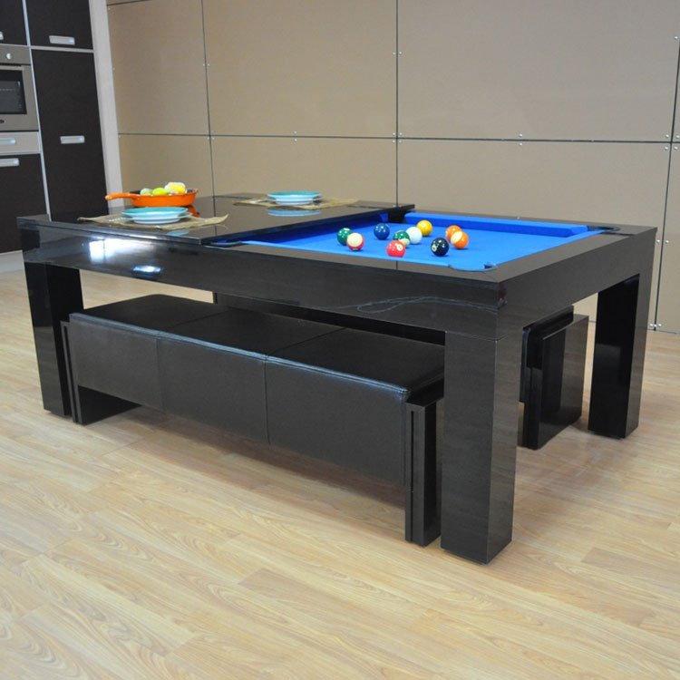 Milano Pool & Entertainment High Gloss Dining Table (Seats 6-8)