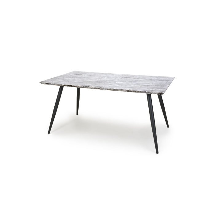 Avril 1.6m Grey Marble Dining Table