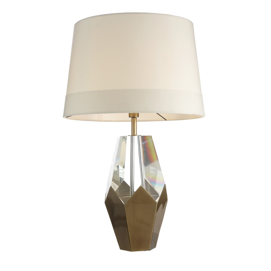 Kinsey Crystal & Antique Brass Table Lamp