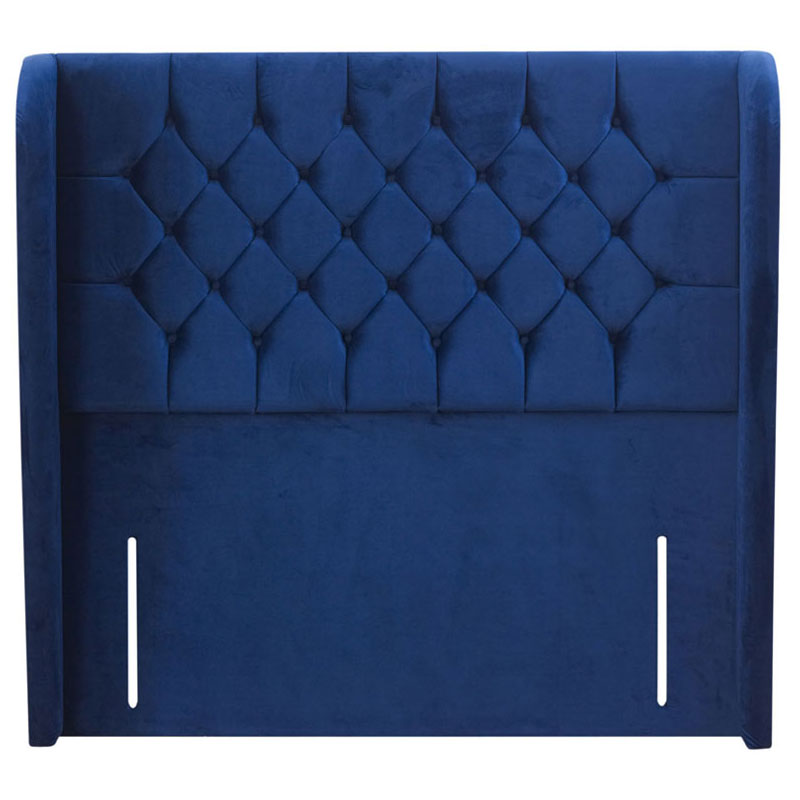 Wisdom Buttoned Winged Headboard - Various Colours & Sizes