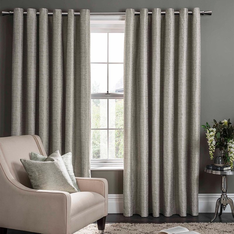 Campello Putty Readymade Eyelet Curtain