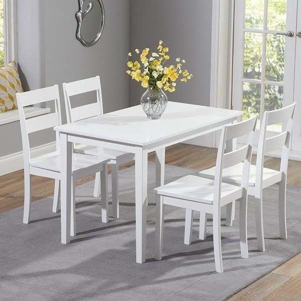 Chichester Oak White Painted 5 Piece 1.15m Dining Set